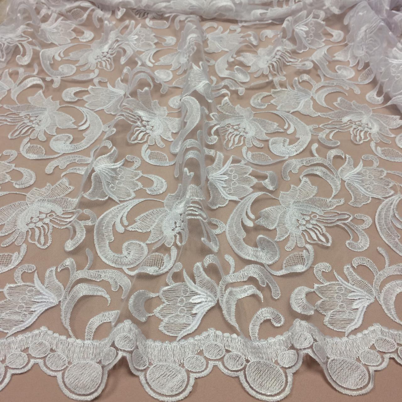 3cedcc4cd TECIDO RENDA TULE BORDADO BRANCO WEDDING